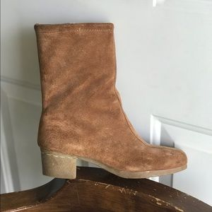 Vintage Brown Leather Heeled Boots Size 5.5